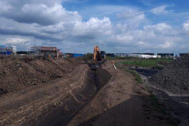 Grondverzet sloot graven Almere Russcher