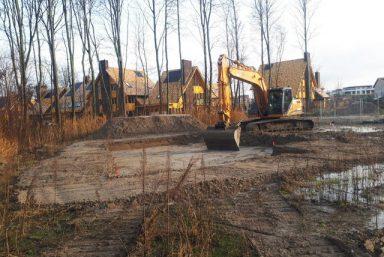 Ontgraven nieuwbouw woningen Almere