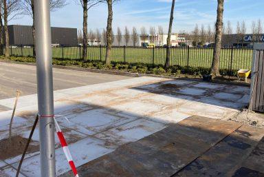Terreinverharding Parkeerterrein Hoofddorp